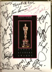 ORIGINAL 1989 ACADEMY AWARDS PROGRAM ACADEMY AWARDS PROGRAM SIGNED BY 16 STARS