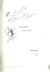Lethal Weapon (Signed Shooting Script)