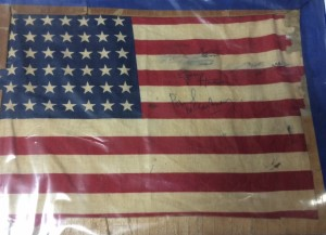 BEATLES SIGNED FLAG